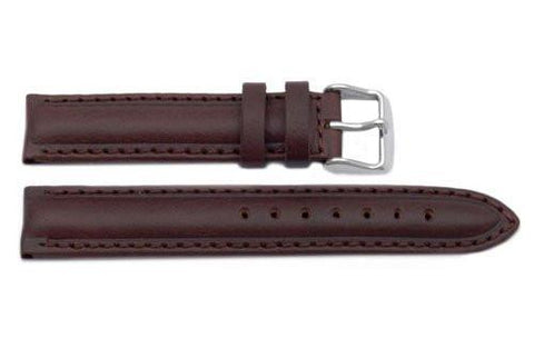 Genuine Oil Tanned Leather Dark Brown Watch Band