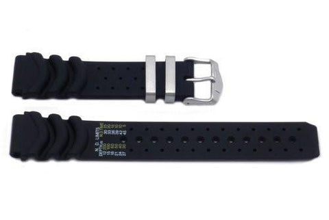 Genuine Citizen Black Rubber 20mm Watch Band