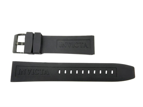 Genuine Invicta 22mm Black Rubber Signature Replacement Watch Band