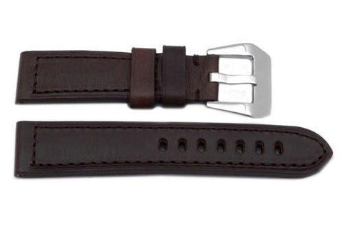 Genuine Heavy Padded Leather Panerai Sport Brown Watch Strap