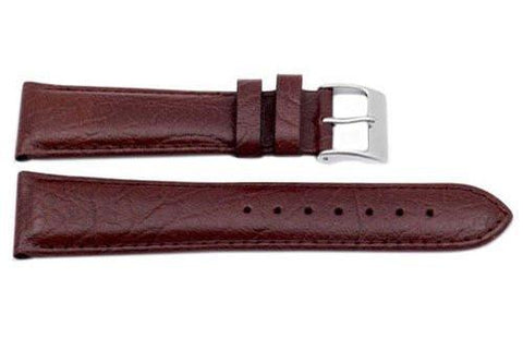 Genuine Buffalo Leather Textured Brown Watch Band