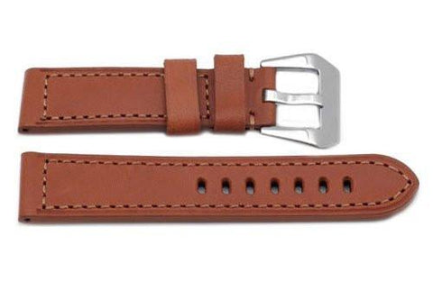 Genuine Heavy Padded Light Brown Leather Panerai Watch Strap