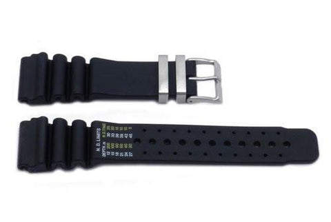 Genuine Citizen Black Rubber 24mm Watch Band