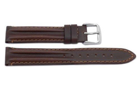 Genuine Oil Tanned Leather Honey Brown Watch Strap