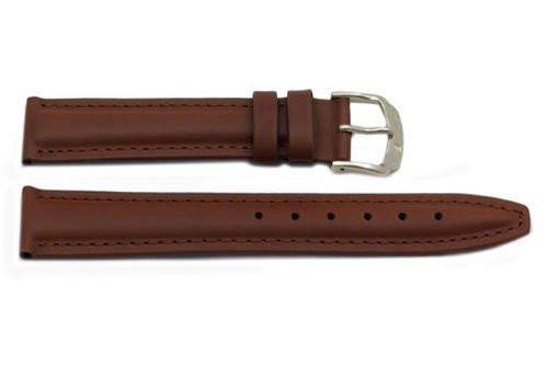 Genuine Leather Smooth Tan Watch Strap