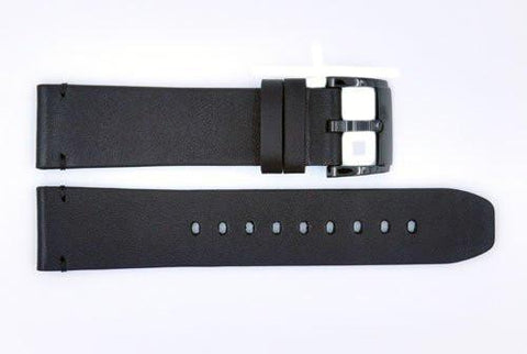 Genuine Movado 22mm Black Genuine Smooth Leather Watch Strap