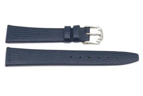 Genuine Leather Lizard Grain Dark Blue Watch Strap