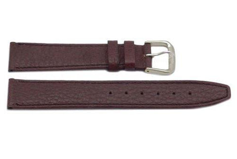 Genuine Textured Leather Brown Watch Strap