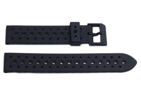 Genuine Swiss Army Black Rubber Renegade 19mm Watch Band