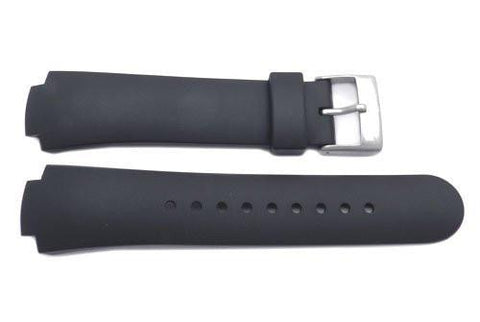 Genuine Swiss Army Black Rubber Excursion Watch Band
