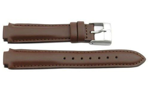 Swiss Army Genuine Brown Smooth Leather Excursion Series 12mm Watch Band