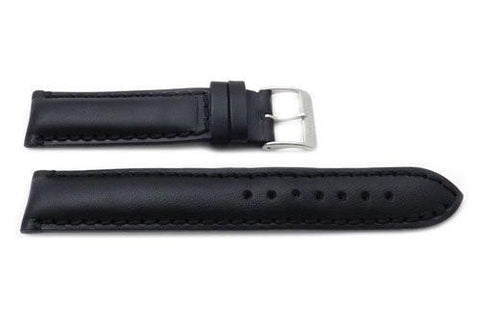 Swiss Army Smooth Leather Black Officers Series 19mm Watch Band
