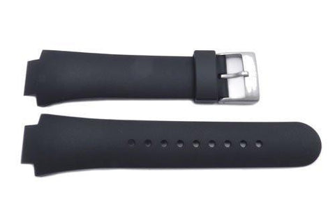 Genuine Swiss Army Black Rubber 16/26mm Watch Strap