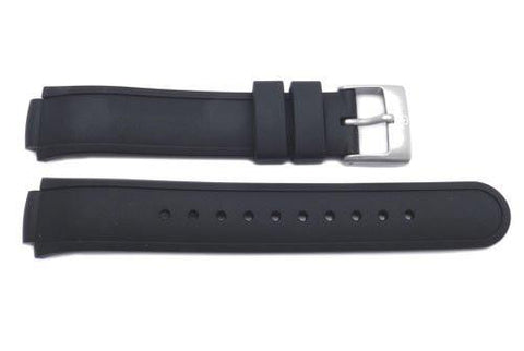 Genuine Swiss Army Black Rubber 13mm Watch Strap