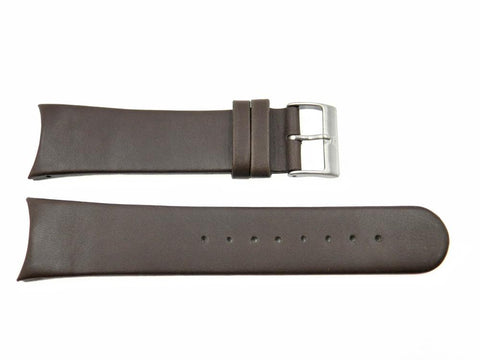 Genuine Skagen Dark Brown Genuine Leather 24mm Watch Strap - PINS