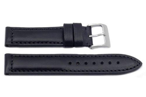 Hadley Roma Heavy Duty Black Sport Leather Watch Band
