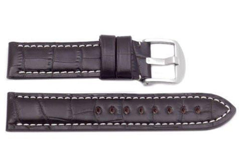 Hadley Roma Genuine Italian Calfskin Panerai Style Brown Watch Band