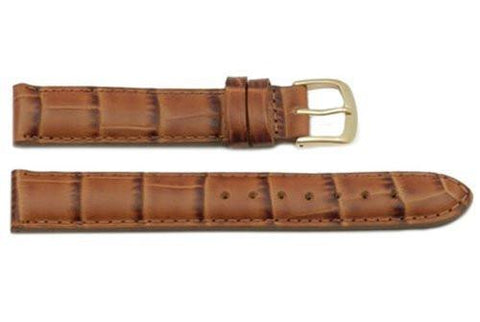 Hadley Roma Alligator Grain Tan Italian Calfskin Watch Band