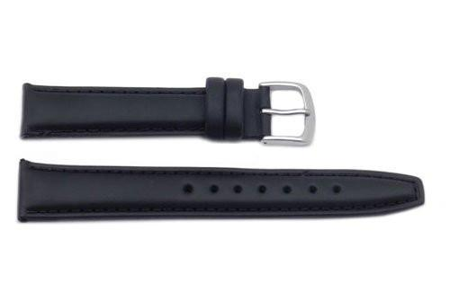 Hadley Roma Black Light Padded Oil Tan Leather Watch Band
