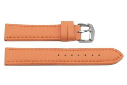 Hadley Roma Genuine Lorica Orange Self-Lined Heavy Padded Watch Band