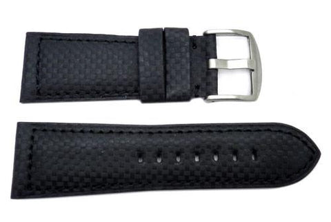 Heavy Padded Carbon Fiber Watch Band