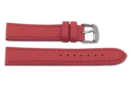 Hadley Roma Genuine Lorica Red Self-Lined Heavy Padded Watch Band