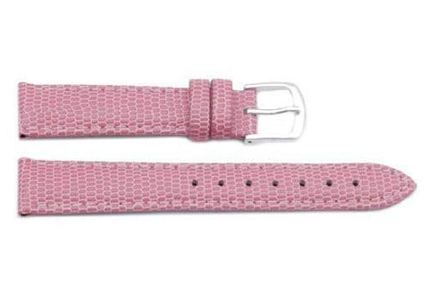 Hadley Roma Java Lizard Grain Pink Textured Leather Watch Strap