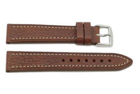 Hadley Roma Shrunken Textured Grain Honey Leather Watch Band
