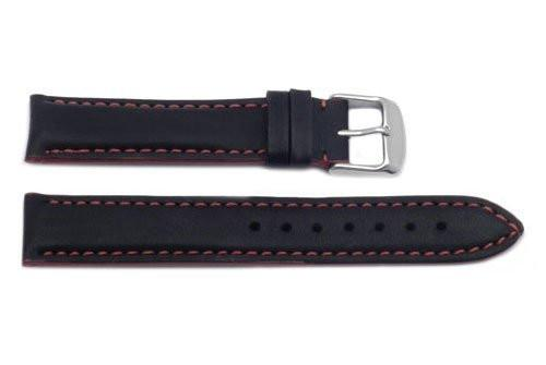 Hadley Roma Red Color Contrast Sport Leather Watch Strap