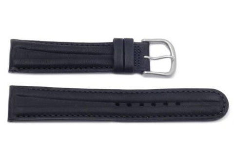 Hadley Roma Waterproof Black Sport Leather Watch Strap