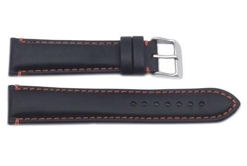 Hadley Roma Red Contrasting Stitching Leather Watch Strap