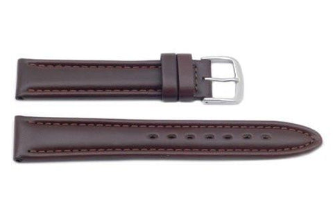 Hadley Roma Matte Brown Oil Tan Leather Watch Band