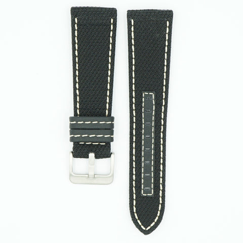 Kevlar Black/White Water Resist Watch Strap
