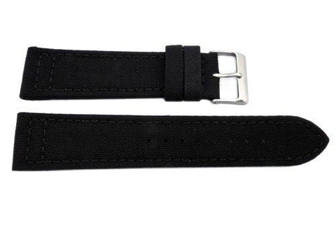 Hadley Roma Genuine Cordura Black Lorica Lining Watch Strap