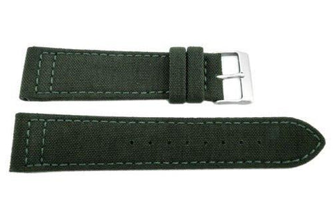 Hadley Roma Genuine Cordura Green Lorica Lining Watch Strap
