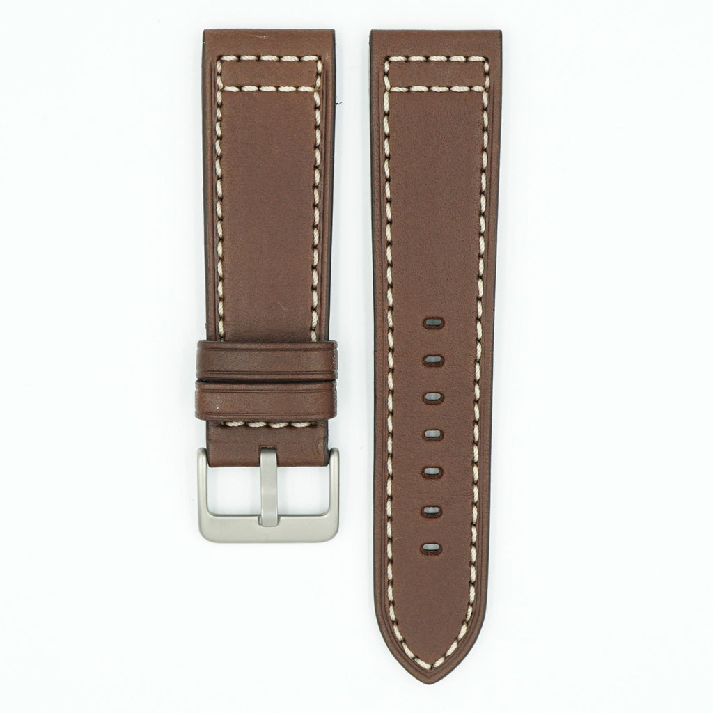Saddle Brown Leather Watch Strap