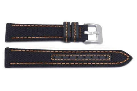 Hadley Roma Genuine Kevlar Orange Contrast Stitching Watch Band