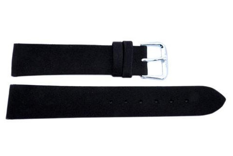 Smooth Silk Cloth Genuine Leather Watch Strap