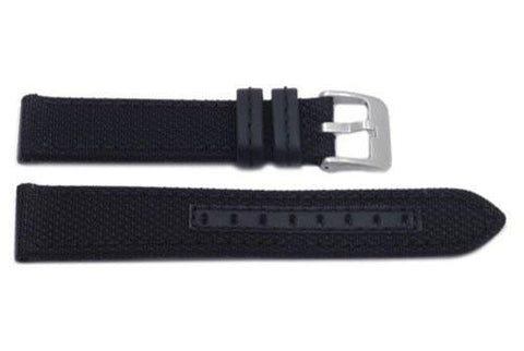 Hadley Roma Black Genuine Kevlar With Matching Stitching Watch Band