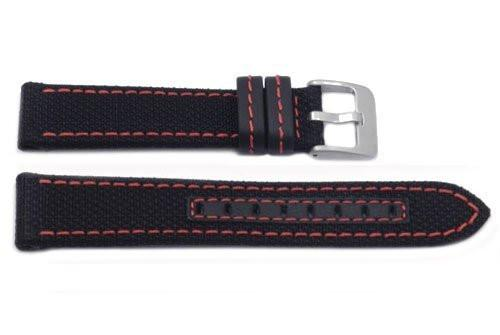Hadley Roma Genuine Kevlar Red Contrast Stitching Watch Band