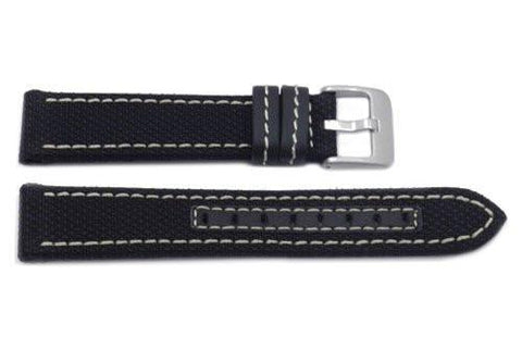 Hadley Roma Genuine Kevlar White Contrast Stitching Watch Band