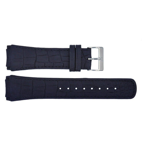 Genuine Skagen Black Crocodile Grain 24mm Leather Watch Strap - Screws