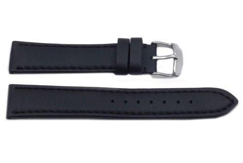 Hadley Roma Genuine Lorica Black Self-Lined Heavy Padded Watch Band