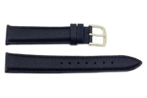 Hadley Roma Genuine Black Pig Skin Leather Watch Strap