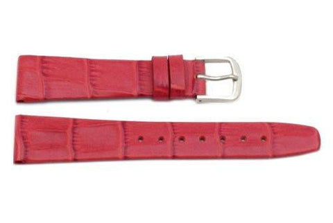 Hadley Roma Red Alligator Grain Leather Watch Band