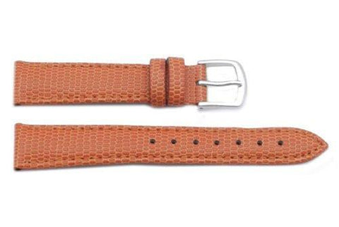 Hadley Roma Java Lizard Grain Orange Textured Leather Watch Strap