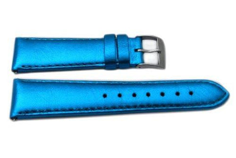 Genuine Leather Metallic Series Watch Band - Assorted Colors