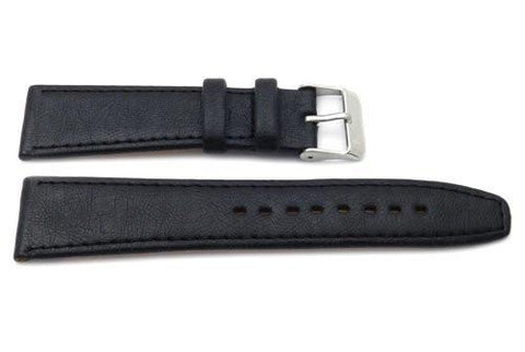 Genuine Soft Calfskin Leather German Design Textured Smooth Watch Strap