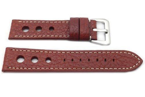 Genuine Calfskin Leather Sport Panerai Style Three Holes Watch Strap