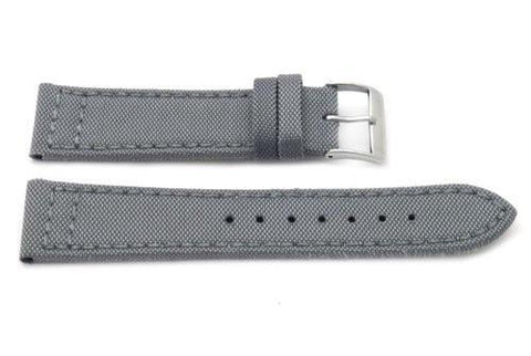 Genuine Leather and Nylon G.I. Joe Canvas Style 20mm Watch Band